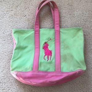 Ralph Lauren big pony tote bag